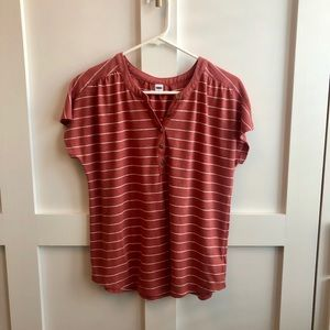 Old Navy Striped Henley Tee